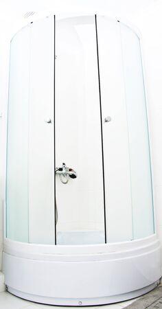 duschkabine: modernen Glas-Duschkabine Lizenzfreie Bilder
