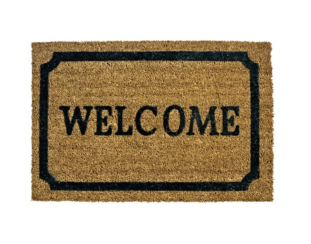 A new welcome doormat isolated photo