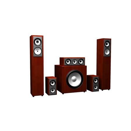3d illustration of audio system over white background Stock Illustration - 11948704