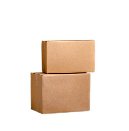 stockpile: cardboard boxes Stock Photo