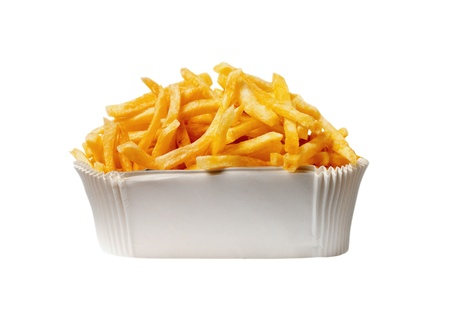 plateful: Serving of French fries