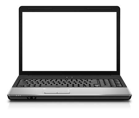 Laptop isolated on white Stock Photo - 11948512