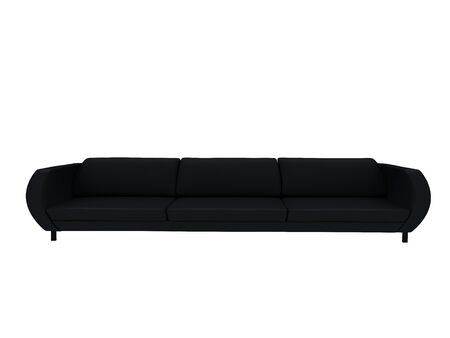 Black sofa photo