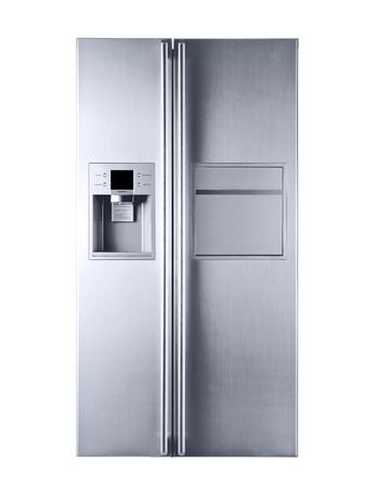 frigo: Imaginez un r�frig�rateur magnifique sur un fond blanc Banque d'images