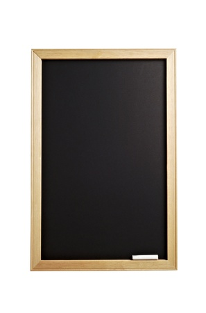 announce: blackboard with wooden frame and are colored white pastel