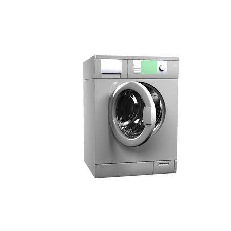 Washing machine isolated over white - 3d render Stock Photo - 11948656
