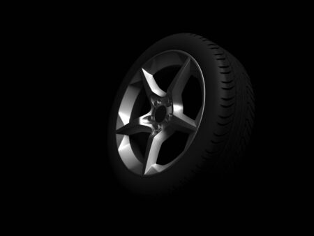 3D wheel Stock Photo - 11948946