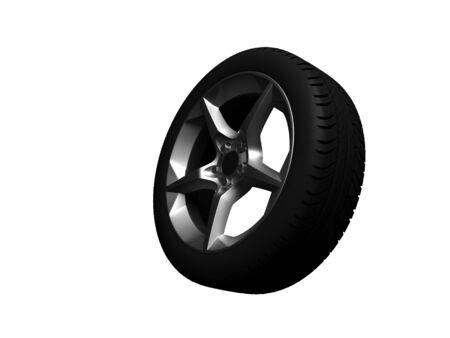 3D wheel Stock Photo - 11948874