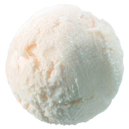 glace: Scoop of vanilla ice cream with clipping path