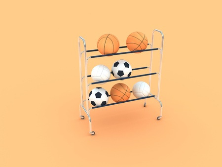 A group of sports balls photo