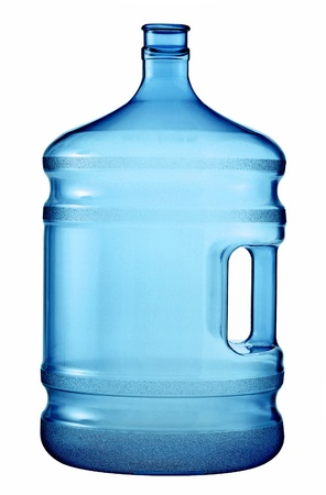 carboy: A large bottle of pure water on a white background