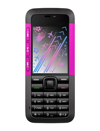hangup: Cellphone front view
