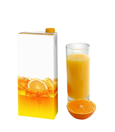 Orange juice carton box photo