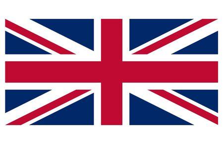 britain flag: Gran Breta�a bandera contra un fondo blanco Foto de archivo