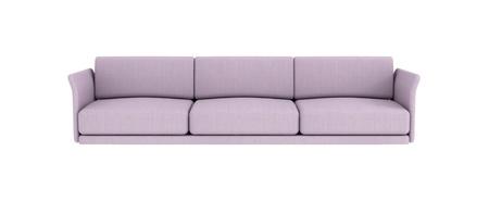 settee: Long sofa