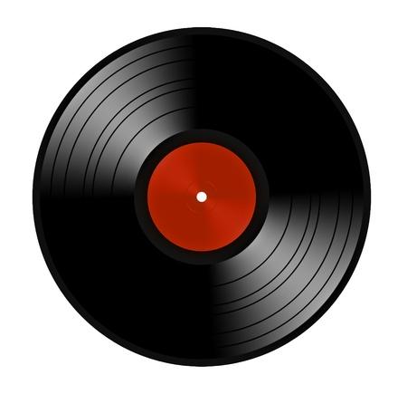 Black vinyl record lp album disc Stock fotó