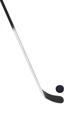 hockey stick: Ice hockey stick Stock Photo
