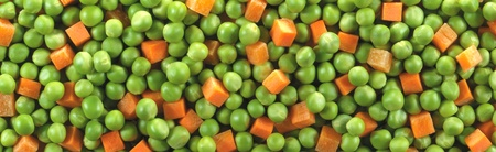 sliced carrots and peas photo