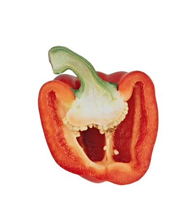 sweet pepper isolated on white background Stock Photo - 12402221