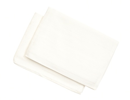 kitchen towels isolated on a white background Stock Photo