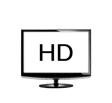High definition lcd TV isolated Stock Photo - 12401755