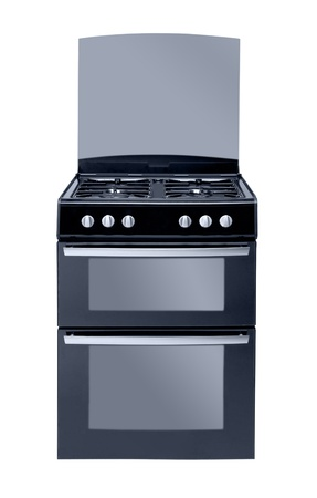 bakeoven: gas cooker isolated on white background Stock Photo