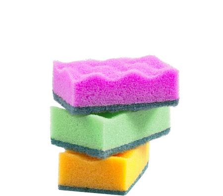 Sponge dish isolated on white Stock Photo - 12402346