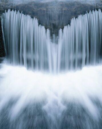 runnel: waterfall close-up Stock Photo