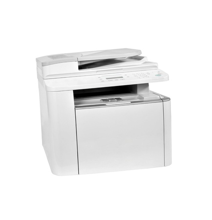 Printer isolated on white background photo
