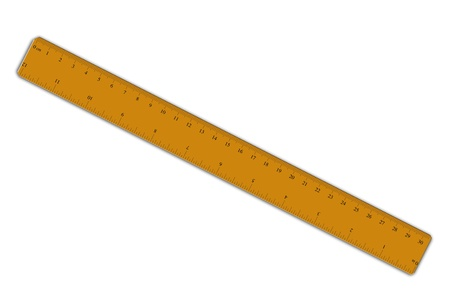 inches: ruler isolated over a white background Stock Photo