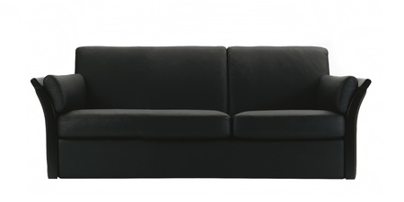 black leather sofa isolated on white background Stock Photo - 13173705