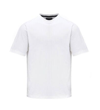 unisex: Unisex camiseta plantilla aisladas sobre fondo blanco