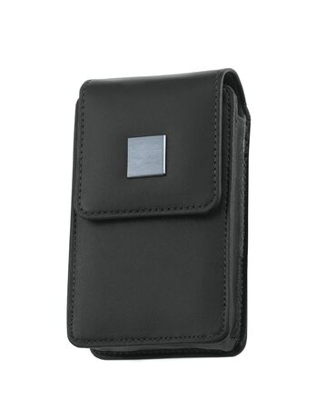 photocamera: black bag for photocamera Stock Photo