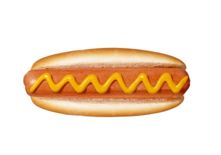 hot dog on white background Stock Photo - 13173794