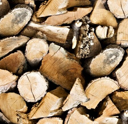 Pile of wooden logs background Stock Photo - 13173637