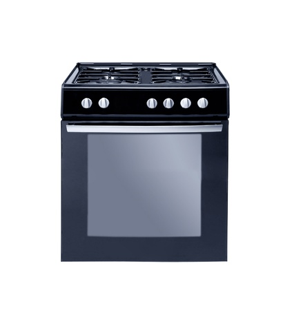grates: gas cooker over the white background