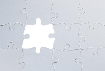 Jigsaw puzzle close up photo