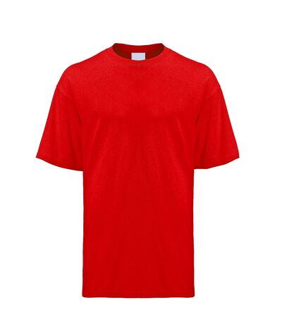 Red T-shirt isolated on white background photo