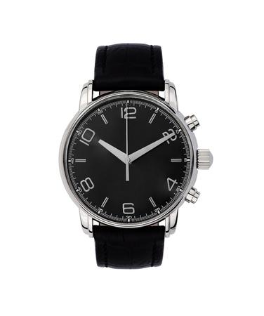 human wrist: wristwatch isolated on white Stock Photo