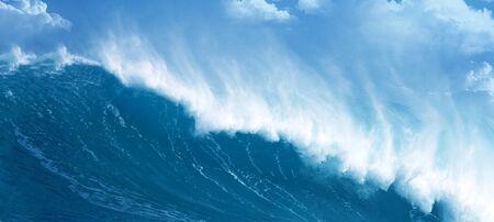 Powerful ocean wave photo