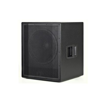 Black Loud Speaker Isolated on White background photo