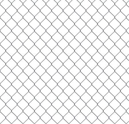 Closeup Detail Einer Kette Link Zaun über Einen Blauen Himmel ...