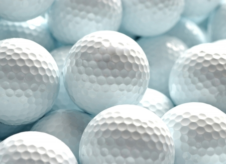white golf balls can be used as background photo