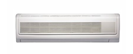 acclimatization: Air conditioner isolated on white