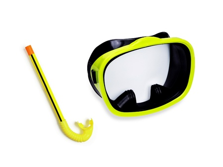 Tube for diving (snorkel) and mask photo