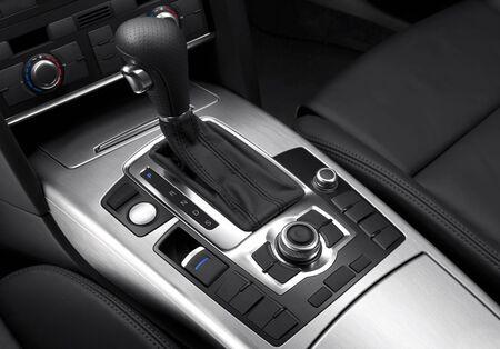 gear  speed: vista da vicino di cambio auto e dettagli Archivio Fotografico