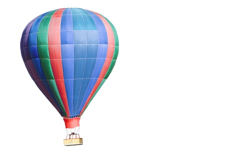 resilient: Isolated colorful hot air balloon close up