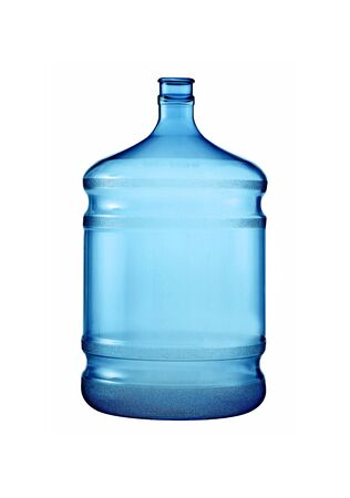 big plastic bottle for potable water isolated photo
