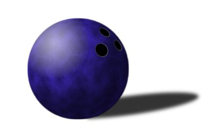 whote: bowling ball isolated close up on whote background