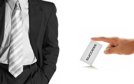 businesscard: hand of businessman offering businesscard